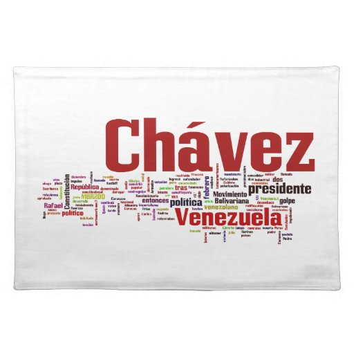 Hugo Chavez - Many Colorful Words style Placemat