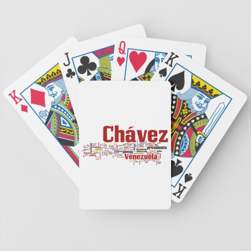 Hugo Chavez - Many Colorful Words style Playing Cards