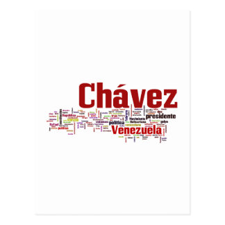 Hugo Chavez - Many Colorful Words style Post Cards