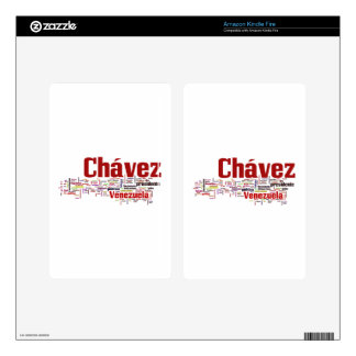 Hugo Chavez - Many Colorful Words style Decal For Kindle Fire