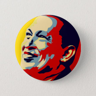 Hugo Chavez - Obama Hope style Pinback Button