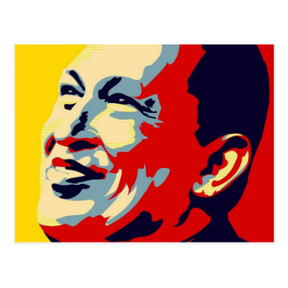 Hugo Chavez - Obama Hope style Postcard