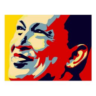 Hugo Chavez - Obama Hope style Postcard