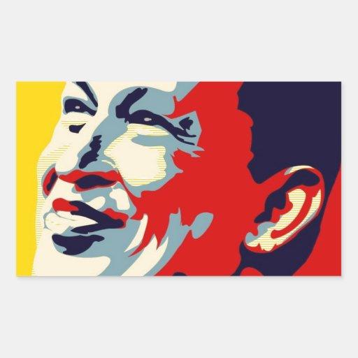 Hugo Chavez - Obama Hope style Rectangular Sticker