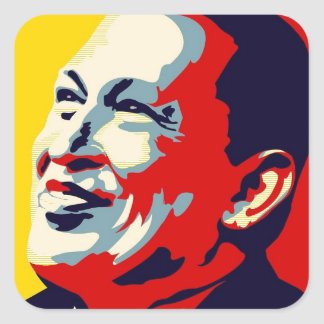 Hugo Chavez - Obama Hope style Square Sticker