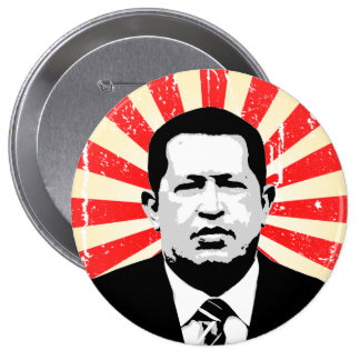 Hugo Chavez Pin Redondo 10 Cm