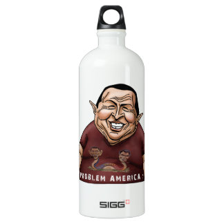 Hugo Chavez - Problem America style Aluminum Water Bottle