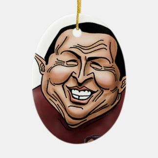 Hugo Chavez - Problem America style Ceramic Ornament