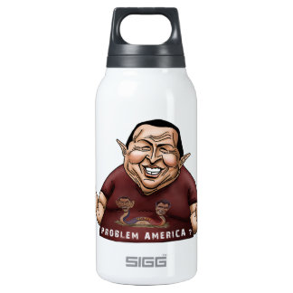 Hugo Chavez - Problem America style Insulated Water Bottle
