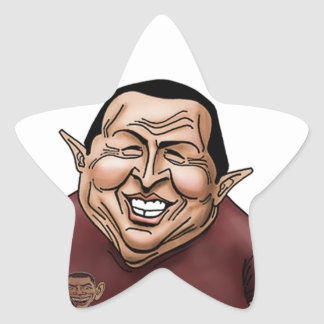 Hugo Chavez - Problem America style Star Sticker