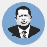 Hugo Chavez Round Sticker