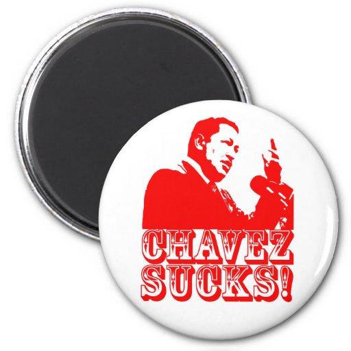 Hugo Chavez Sucks! 2 Inch Round Magnet