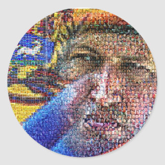 Hugo Chavez - Venezuela Etiquetas Redondas