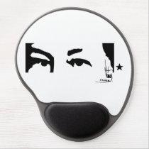 Hugo Chavez's eyes & signature Gel Mousepads