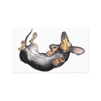 Hugo el arte de la pared de la lona el dormir del  lona estirada galerias