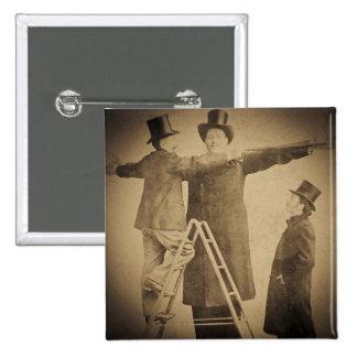 Hugo la foto gigante de Wendt del monstruo del cir Pin Cuadrado