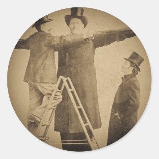 Hugo la foto gigante de Wendt del monstruo del Pegatina Redonda