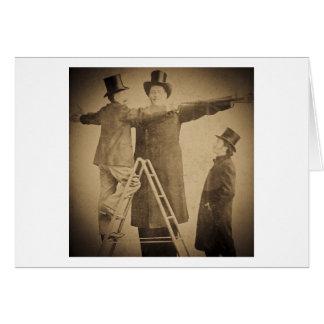 Hugo la foto gigante de Wendt del monstruo del Tarjeta De Felicitación