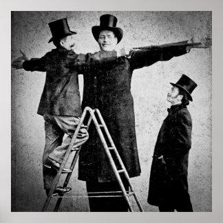 Hugo los 1890s gigantes del vintage del monstruo d póster