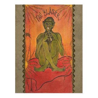 Hugo Simberg el diablo sopla la postal CC0612