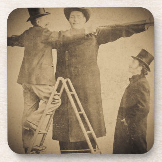 Hugo the Giant Vintage Circus Freak Wendt Photo Coasters