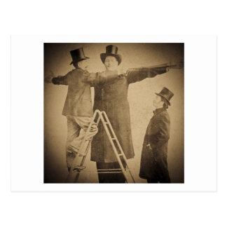 Hugo the Giant Vintage Circus Freak Wendt Photo Postcard