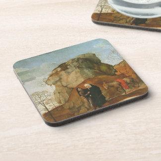 Hugo van der Goes- Portinari Triptych (detail) Drink Coaster
