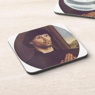 Hugo van der Goes- Portrait Of A Man Beverage Coaster