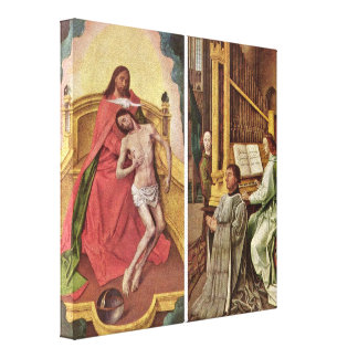 Hugo van Goes - Sir Edward Boncle (right panel) Canvas Prints