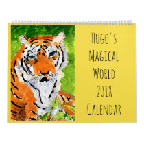 Hugo's Magical World 2018 Wall Calendar
