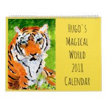 Hugo's Magical World 2018 Wall Calendar