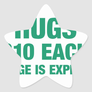 Hugs $10 each - College is expensive Star Sticker