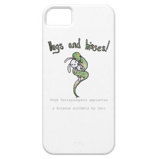 Hugs and Hisses from a four legged snake iPhone SE/5/5s Case