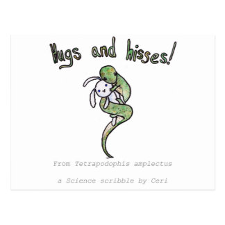 Hugs and Hisses from a four legged snake Postcard