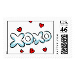 Hugs and Kisses 1 Postage Stamps