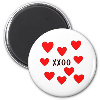 Hugs and Kisses 2 Inch Round Magnet