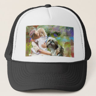hugs and kisses and smiles.jpg trucker hat