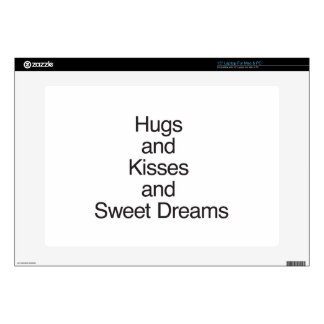 """Hugs and Kisses and Sweet Dreams 15"""" Laptop Decal"""