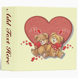 Hugs and Kisses Bears 3 Ring Binder