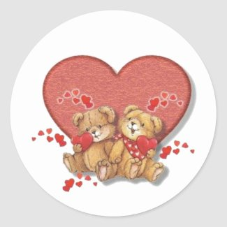 Hugs and Kisses Bears Stickers