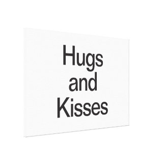 hugs and kisses gallery wrap canvas