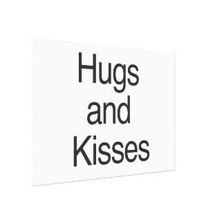 Hugs and Kisses Gallery Wrapped Canvas