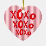 Hugs And Kisses Christmas Tree Ornament