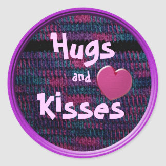 Hugs and Kisses Classic Round Sticker
