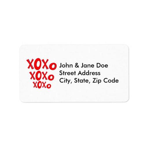 Hugs And Kisses Custom Address Label