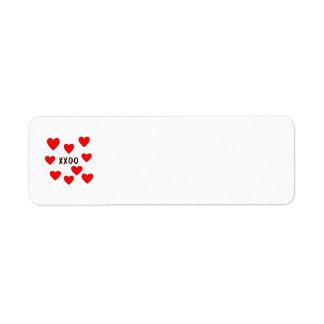 Hugs and Kisses Custom Return Address Labels