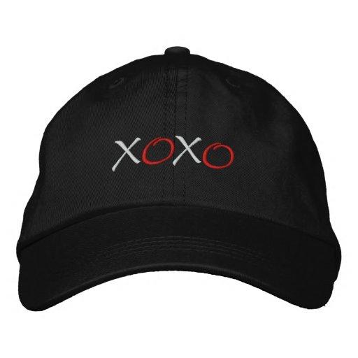 Hugs and Kisses Embroidered Baseball Hat