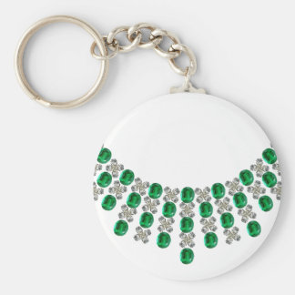 Hugs and Kisses Emerald Necklace Keychain