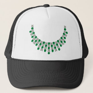 Hugs and Kisses Emerald Necklace Trucker Hat