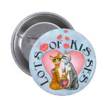 Hugs and kisses for sweetheart 2 inch round button